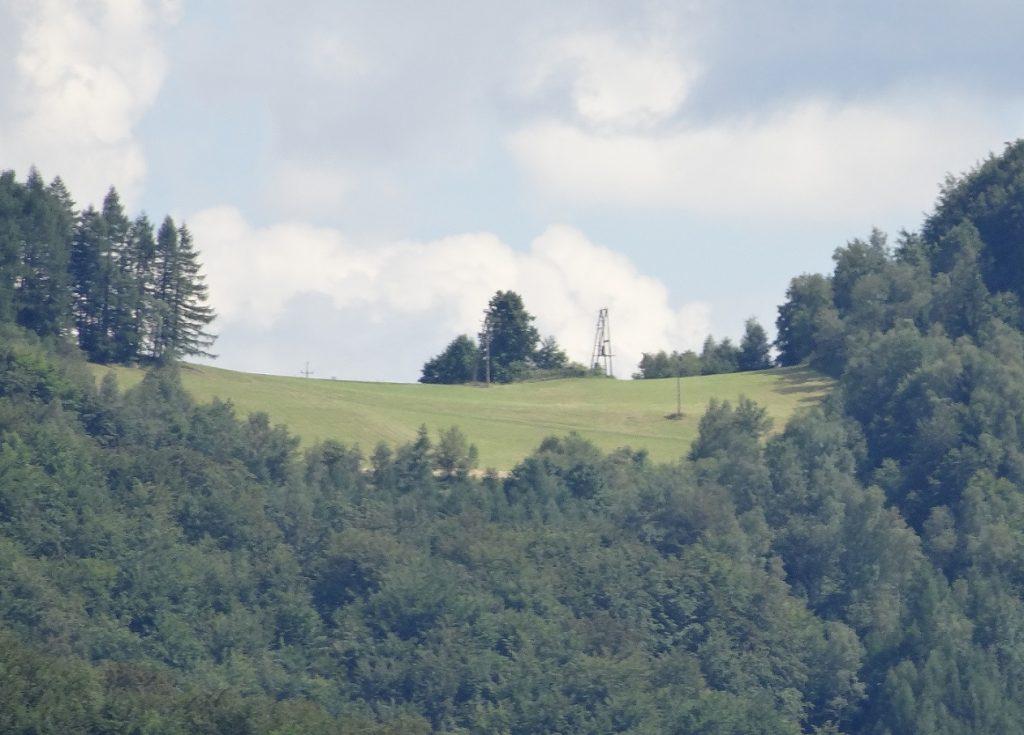 Nasza przełęcz - widok z tarasu w Woli Kroguleckiej