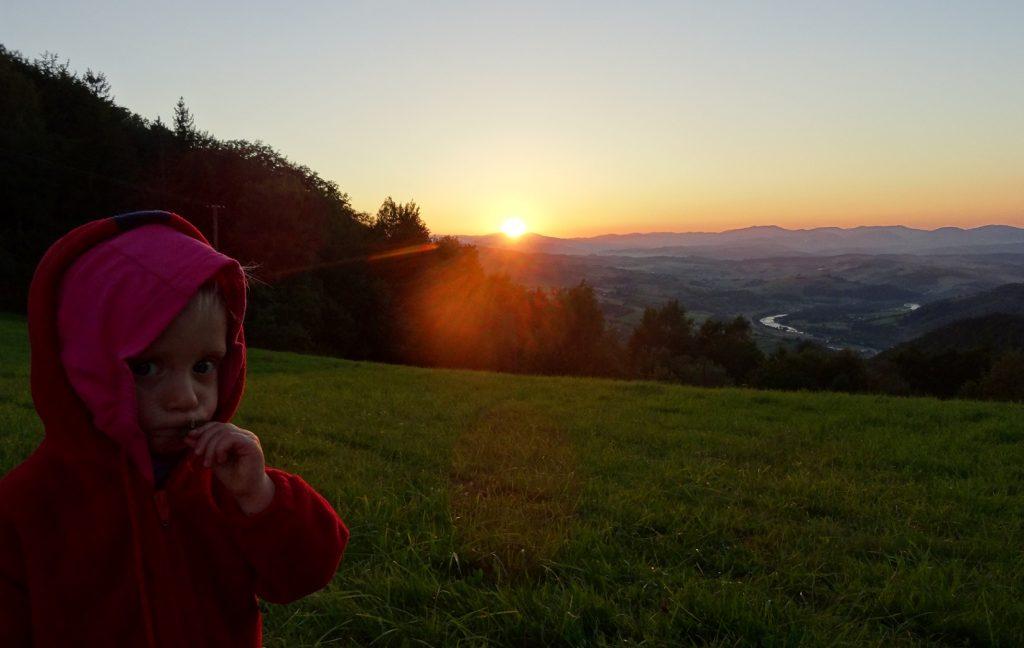 Haneczka, zachód słońca i nasz ulubiony widok