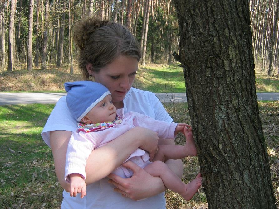 Hania - pierwsze kroki po drzewach, Puszcza Niepołomicka